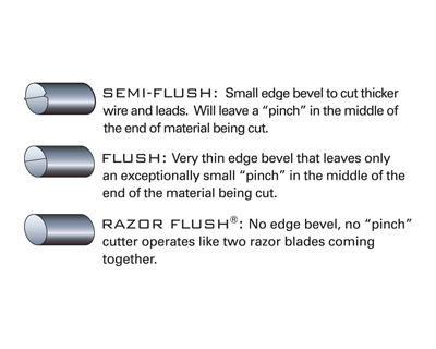 Tronex Large Oval Razor Flush Cutters (ergonomic handle length)