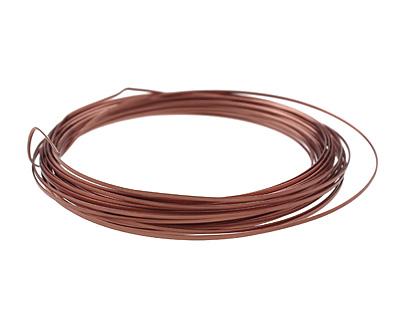 Soft Flex Non-Tarnish Antique Copper Half Round Craft Wire 18 gauge, 7 yards