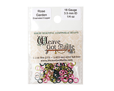Rose Garden Mix Enameled Copper Round Jump Ring 5mm, 18 gauge