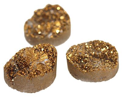 Druzy (metallic gold) Round Cabochon 25mm