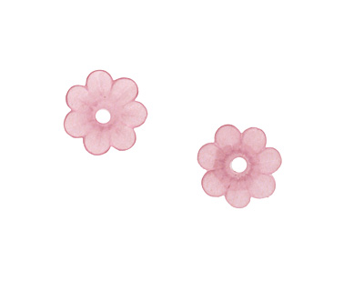 Matte Rose Lucite Daisy 3x10mm