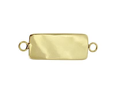 Brass Lipped Narrow Rectangle Bezel Link 12x36mm