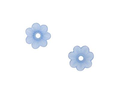 Matte Light Sapphire Lucite Daisy 3x10mm