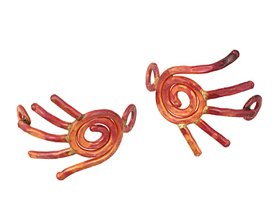 Patricia Healey Copper Right Hand Curved Link 32x31mm