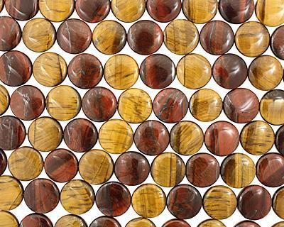 Tiger Eye (multi) Puff Coin 18mm