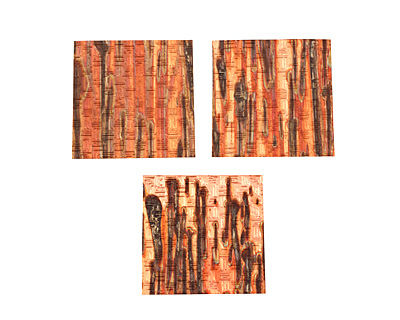 Lillypilly Enchantment Thatch Embossed Patina Copper Sheet 3