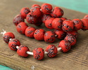 African Recycled Powder Glass & Seed Bead Orchard Mix Tumbled Round 10-14mm