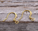 Gold (plated) Flat Earwire w/ Ball 10x17mm
