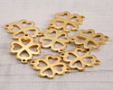 Gold (plated) Stainless Steel 4 Leaf Clover Focal Link 21x16mm