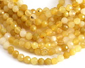 Yellow Opal Faceted Round 3.5mm