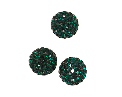Emerald Pave Round 10mm