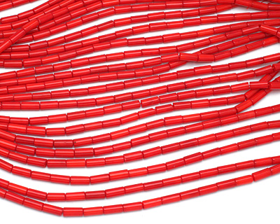 Red Coral Tube 11-12x5mm