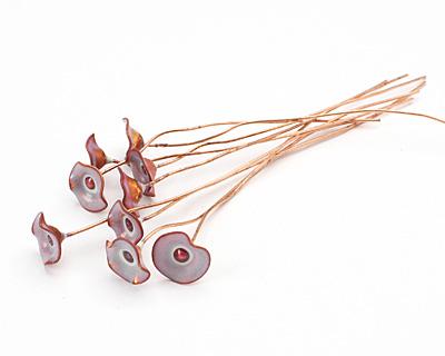 C-Koop Enameled Metal Nude Tan Small Flower Headpin 13mm