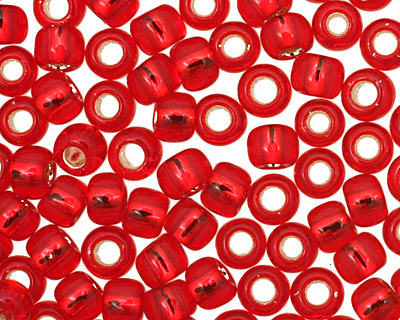 TOHO Ruby (with Silver Lining) Round 8/0 Seed Bead