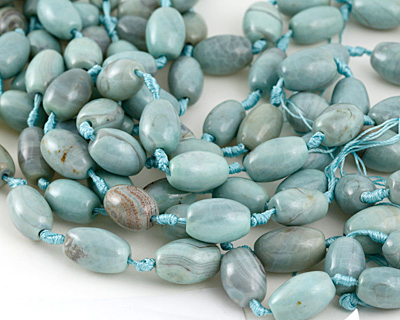 Aqua Terra Agate Rice 20-24x14-15mm