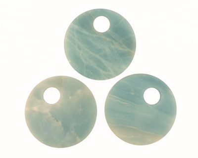 Amazonite Off Center Donut 50mm