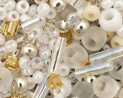 TOHO Hasu White Seed Bead Mix