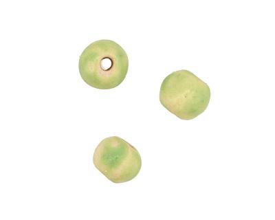 Gaea Ceramic Spring Green Organic Round 9-10x12-13mm
