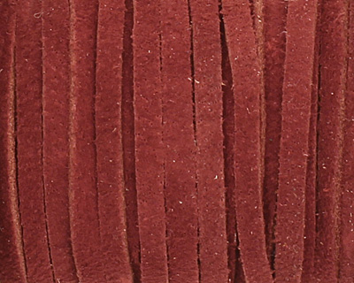 Maroon Suede Leather Lace 3mm