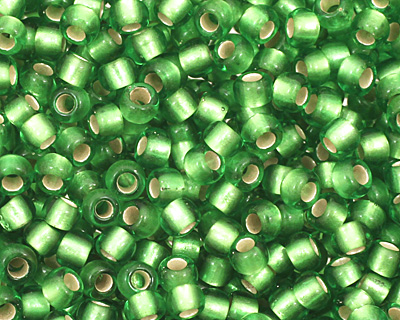 TOHO Peridot (with Frosted Silver Lining) Round 11/0 Seed Bead