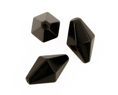 Black Onyx Diamond 35x21mm