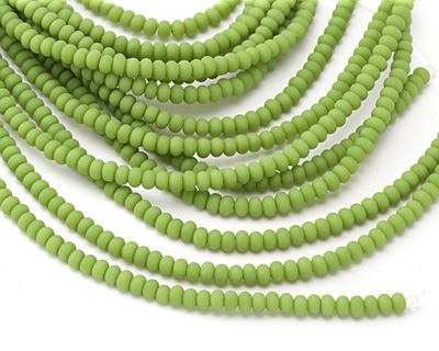 Spring Green Recycled Glass Rondelle 3x5mm