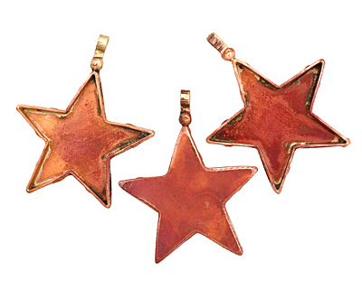 Patricia Healey Copper Star Bezel Pendant 45x56mm