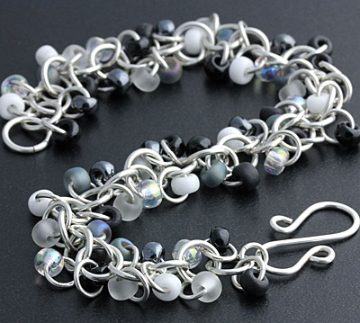 Weave Got Maille Shades of Grey Shaggy Loops Bracelet Kit