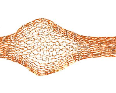 WireLace Tangerine Ribbon 6mm