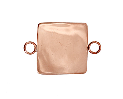 Copper Lipped Square Bezel Link 19mm