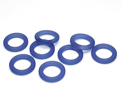 Royal Blue Recycled Glass Ring 23mm