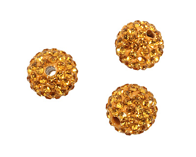 Topaz Pave Round 10mm (1.5mm hole)