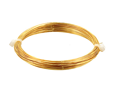 German Style Wire Gold Color Round 24 gauge, 12 meters