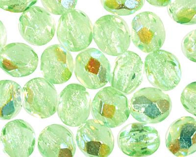 Czech Fire Polished Glass Peridot AB Round 3mm
