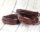 Natural Antique Brown Round Leather Cord 2mm