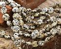 Dalmatian Jasper Puff Coin 12mm