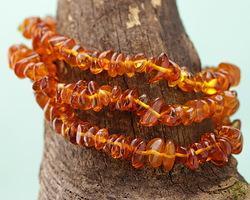 Amber Chips Stretch Bracelet