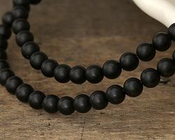 Black Onyx (matte AA) Round 6mm