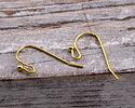 Gold (plated) Earwire w/ Ball 11x21mm