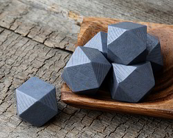 Storm Wood Faceted Nugget 20mm