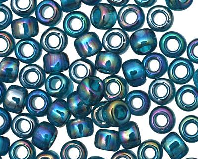 TOHO Transparent Rainbow Teal Round 8/0 Seed Bead
