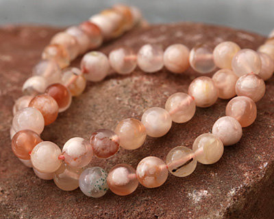Natural Pink Agate Round 6mm