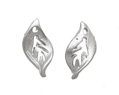 Ezel Findings Rhodium (plated) Sweet Crab Leaf 5x10mm