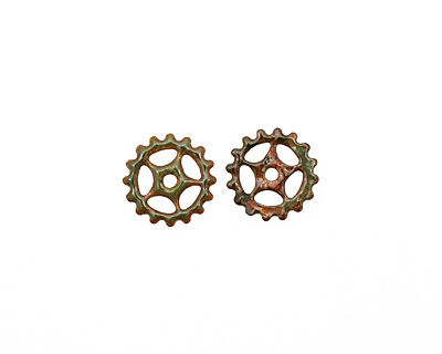 C-Koop Enameled Metal Olive Small Sectioned Gear 16mm