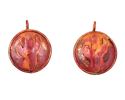 Patricia Healey Copper Cactus Pendant 32x40mm