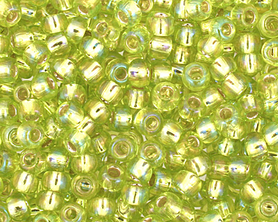 TOHO Rainbow Lime Green (with Silver Lining) Round 11/0 Seed Bead