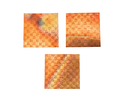 Lillypilly Flamed Thatch Embossed Patina Copper Sheet 3