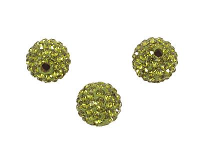 Olivine Pave Round 10mm