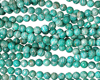Russian Amazonite Faceted Round 8mm