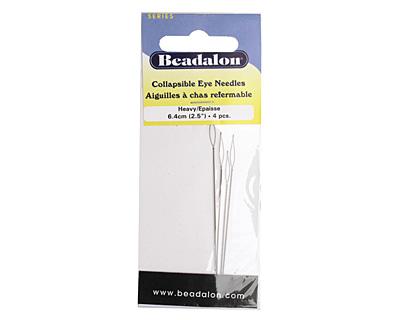 Beadalon Collapsible Eye Heavy Beading Needle 2.5 inches (6.4cm)
